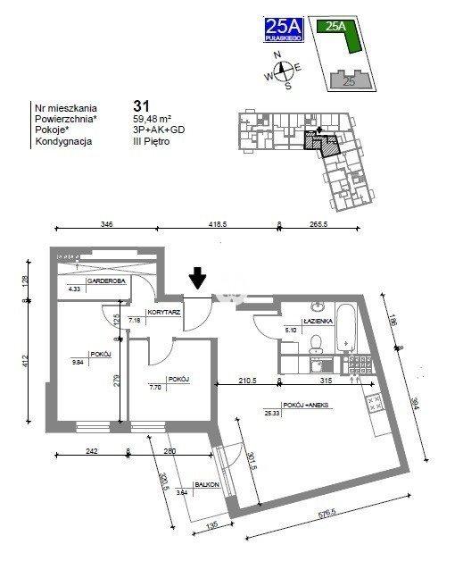 Mieszkanie trzypokojowe na sprzedaż Bydgoszcz, Bartodzieje Wielkie, Kazimierza Pułaskiego  60m2 Foto 4