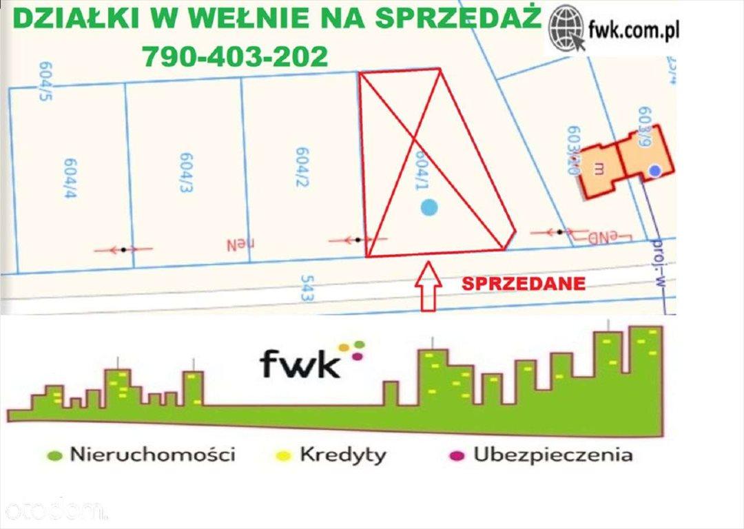 Działka budowlana na sprzedaż Wełna  1000m2 Foto 1