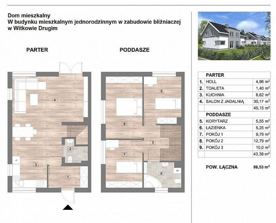 Dom na sprzedaż WITKOWO DRUGIE, Witkowo, Wiśniowa  89m2 Foto 5