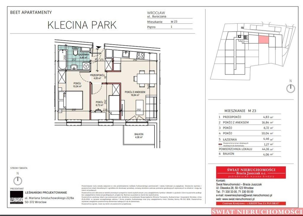 Mieszkanie trzypokojowe na sprzedaż Wrocław, Krzyki, Buraczana  44m2 Foto 3