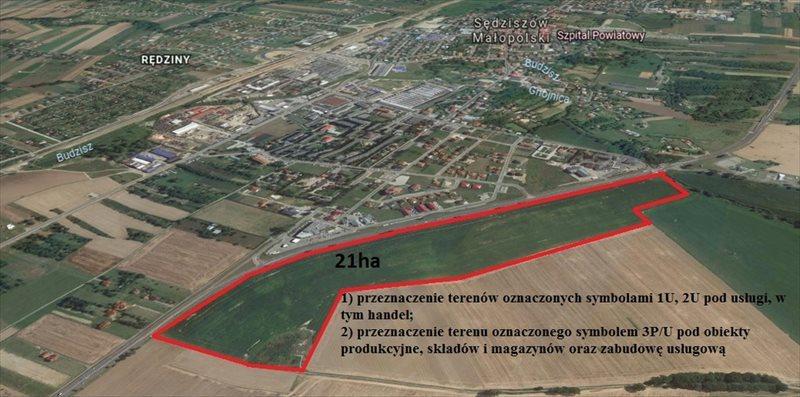 Działka przemysłowo-handlowa na sprzedaż Sędziszów Małopolski, Rzeszowska  3000m2 Foto 2