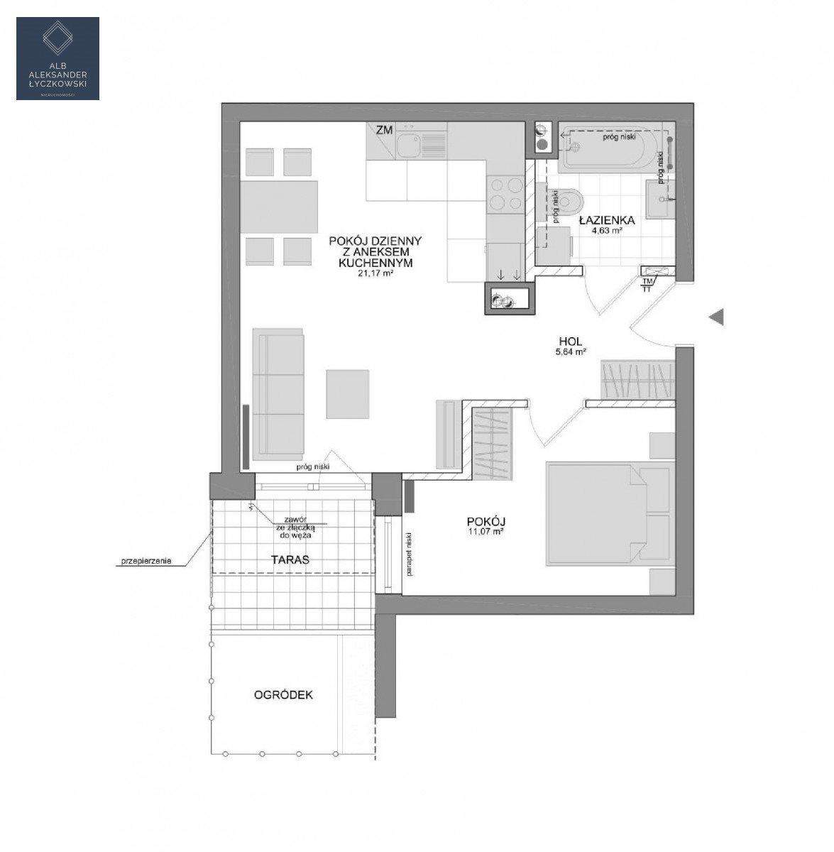 Mieszkanie dwupokojowe na sprzedaż Gdynia, Pogórze  44m2 Foto 2