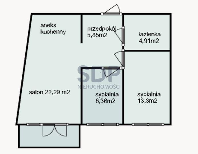 Mieszkanie trzypokojowe na sprzedaż Wrocław, Krzyki, Tarnogaj, Piękna  55m2 Foto 6