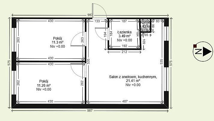 Mieszkanie na sprzedaż Kielce, Czarnów  47m2 Foto 1