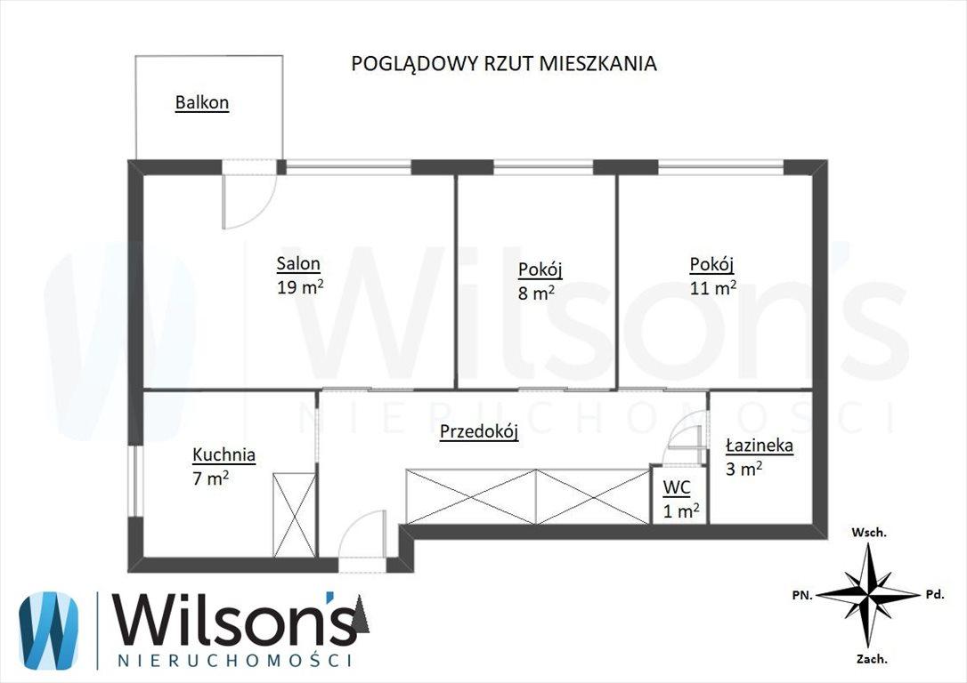 Mieszkanie trzypokojowe na sprzedaż Warszawa, Mokotów, Batuty  55m2 Foto 11