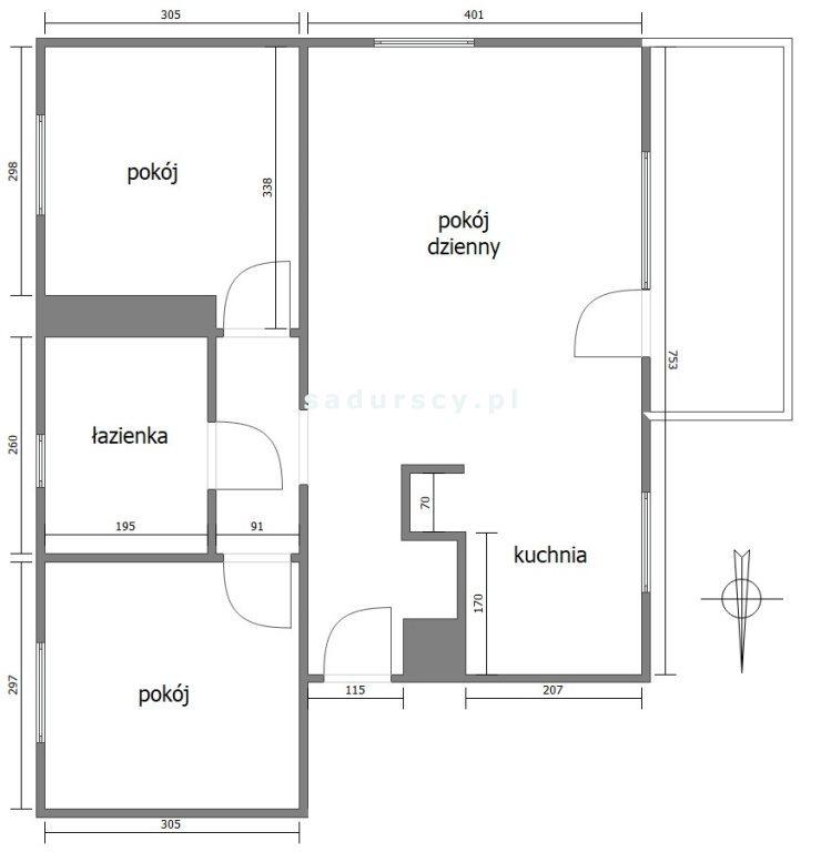 Mieszkanie trzypokojowe na sprzedaż Kraków, Podgórze Duchackie, Wola Duchacka, Sebastiana Klonowica  56m2 Foto 3