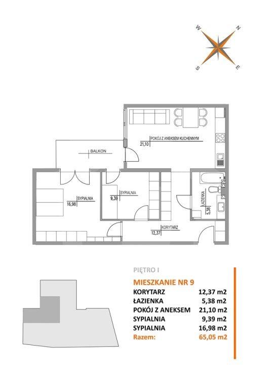 Mieszkanie trzypokojowe na sprzedaż Bydgoszcz, Szwederowo  65m2 Foto 4