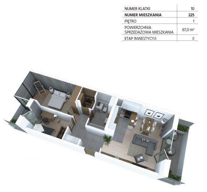Mieszkanie trzypokojowe na sprzedaż Bydgoszcz, Szwederowo, Piękna  67m2 Foto 1
