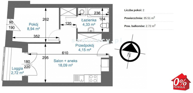 Mieszkanie dwupokojowe na sprzedaż Kraków, Podgórze, Zabłocie, Nowohucka  36m2 Foto 3