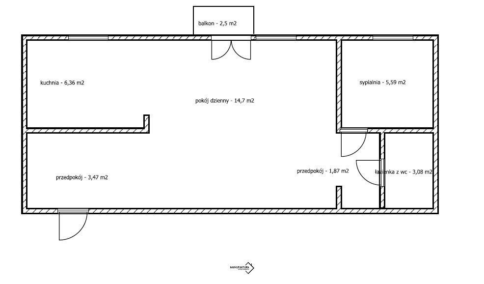 Mieszkanie dwupokojowe na sprzedaż Bydgoszcz, Błonie  35m2 Foto 11