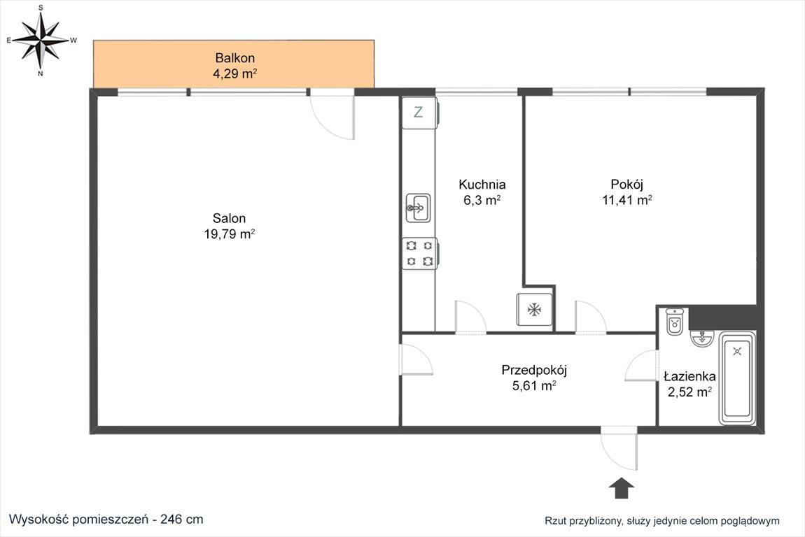 Mieszkanie dwupokojowe na sprzedaż Warszawa, Bielany, Chomiczówka, Renesansowa  46m2 Foto 2