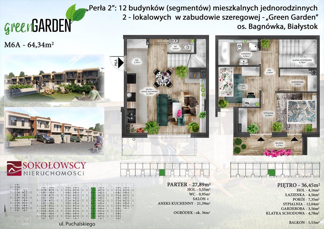 Mieszkanie trzypokojowe na sprzedaż Białystok, Bagnówka, ul. Józefa Karola Puchalskiego  64m2 Foto 5