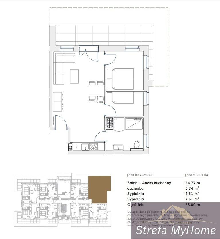 Mieszkanie dwupokojowe na sprzedaż Pobierowo  43m2 Foto 6