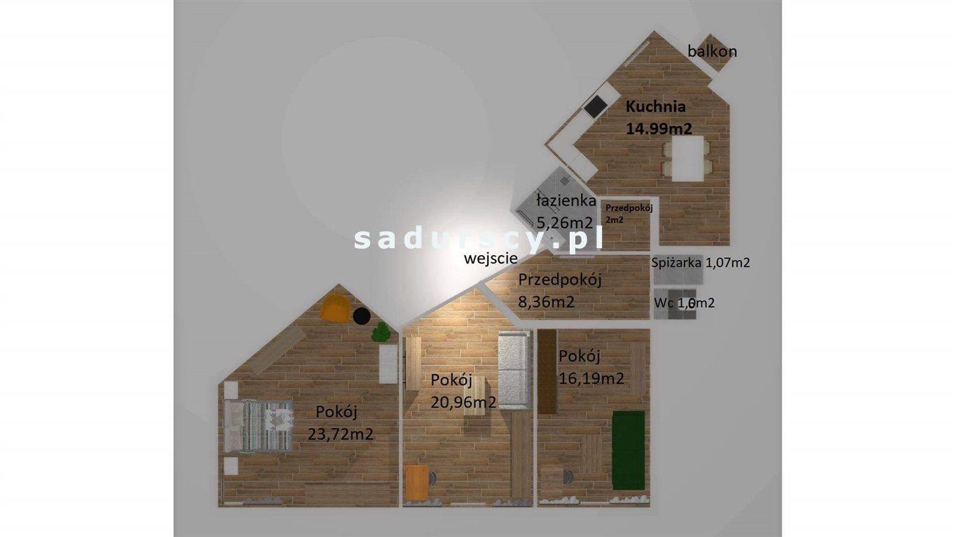 Mieszkanie trzypokojowe na sprzedaż Kraków, Krowodrza, Łobzów, Sienkiewicza  94m2 Foto 8