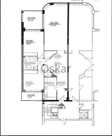 Mieszkanie trzypokojowe na wynajem Warszawa, Wilanów, Husarii  122m2 Foto 1