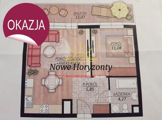 Mieszkanie dwupokojowe na sprzedaż Białystok, Wysoki Stoczek, al. Jana Pawła II  45m2 Foto 7