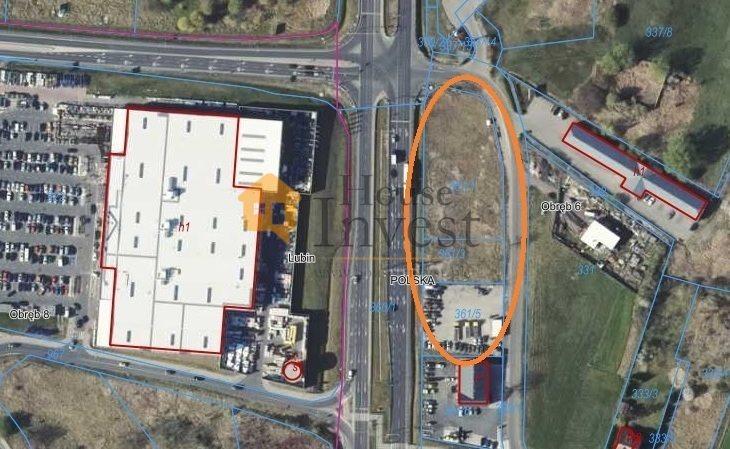 Działka komercyjna na sprzedaż Lubin  5800m2 Foto 1