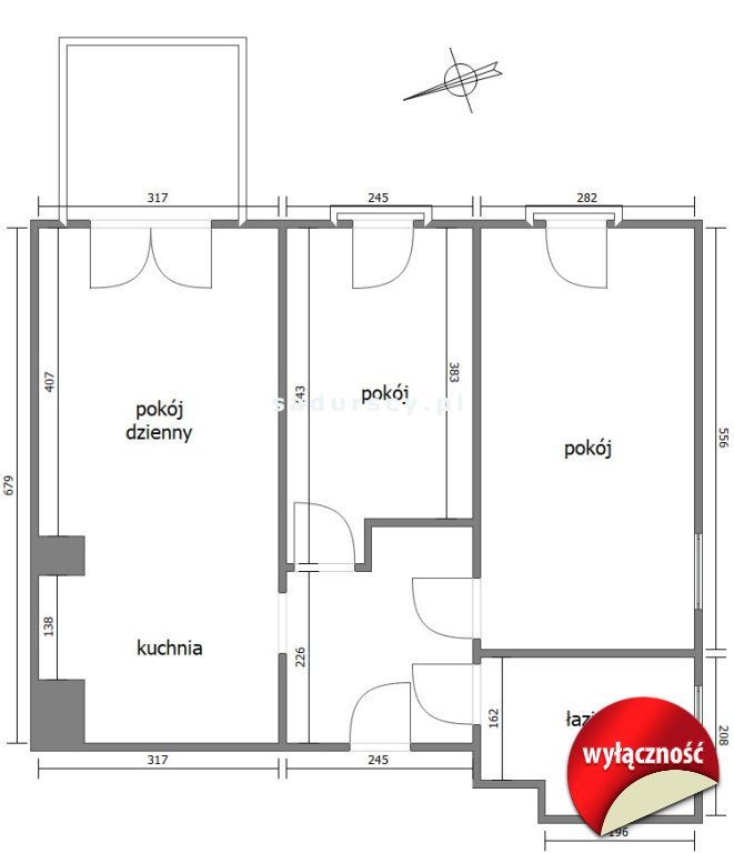Mieszkanie trzypokojowe na sprzedaż Kraków, Nowa Huta, os. Szklane Domy  58m2 Foto 3