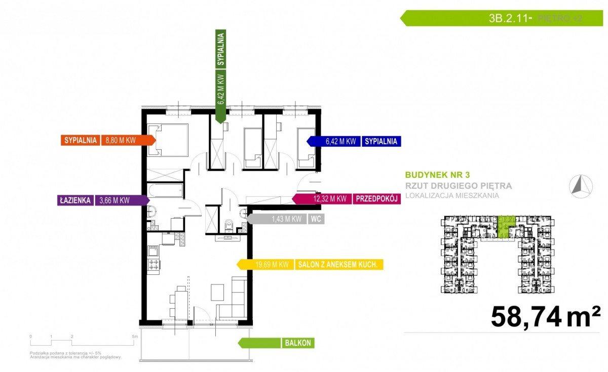 Mieszkanie czteropokojowe  na sprzedaż Gdynia, Obłuże  59m2 Foto 1