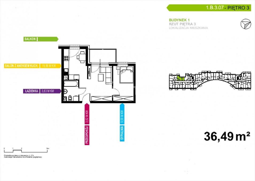 Mieszkanie dwupokojowe na sprzedaż Poznań, Malta, abpa Walentego Dymka  36m2 Foto 2