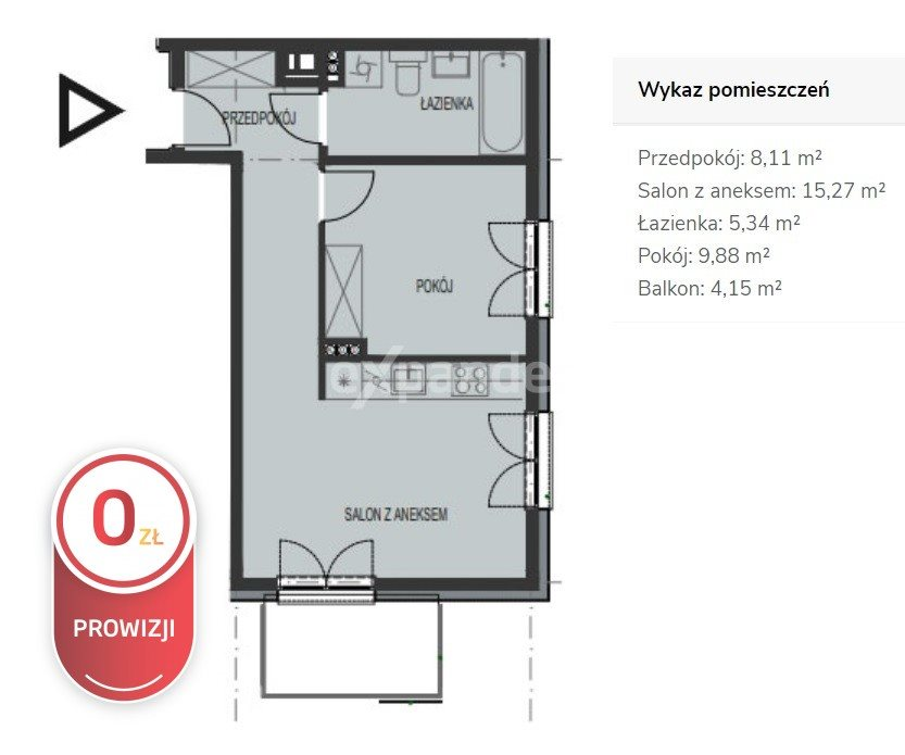 Mieszkanie dwupokojowe na sprzedaż Wrocław, Tarnogaj  39m2 Foto 5