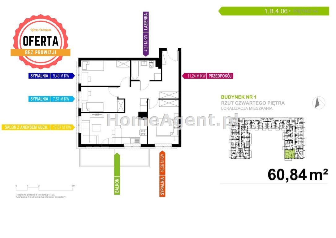 Mieszkanie czteropokojowe  na sprzedaż Mikołów  62m2 Foto 2