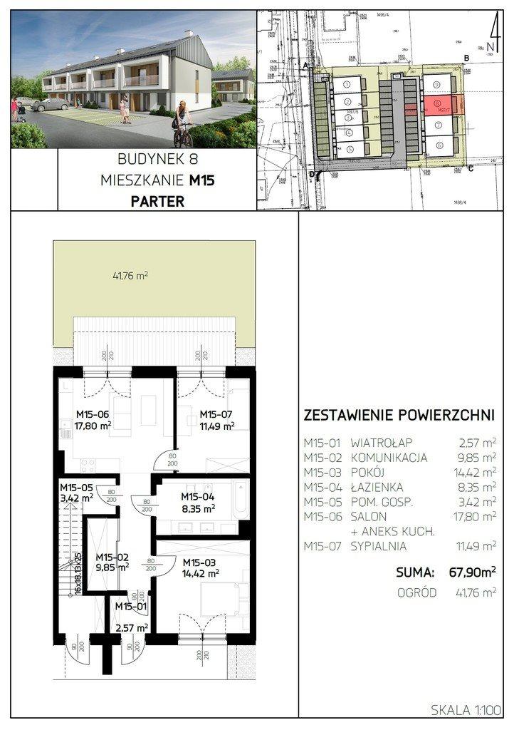 Mieszkanie dwupokojowe na sprzedaż Rzeszów, Aroniowa  68m2 Foto 7
