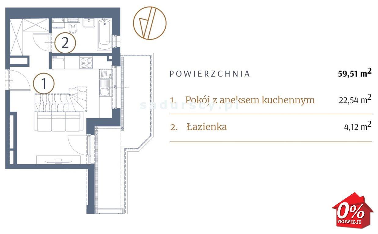 Mieszkanie dwupokojowe na sprzedaż Kraków, Stare Miasto, Kleparz, Sławkowska - okolice  60m2 Foto 3