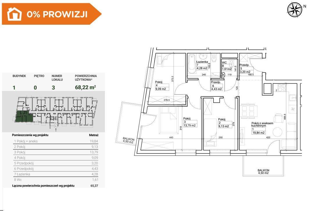 Mieszkanie czteropokojowe  na sprzedaż Bydgoszcz, Szwederowo  68m2 Foto 2
