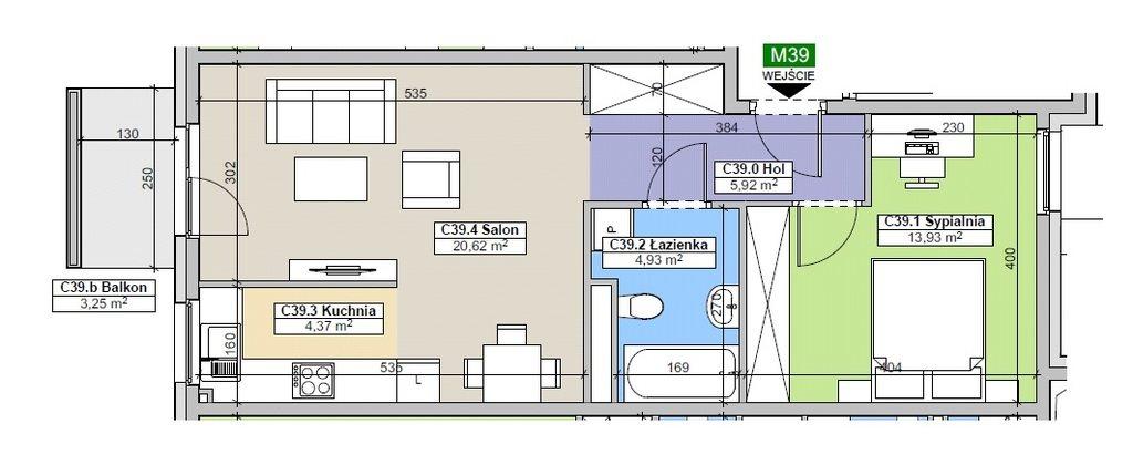 Mieszkanie dwupokojowe na sprzedaż Rzeszów, Ignacego Paderewskiego  50m2 Foto 4