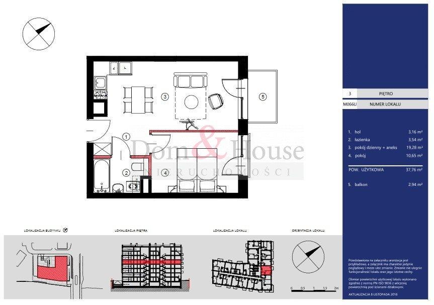 Mieszkanie dwupokojowe na sprzedaż Gdańsk, Śródmieście, Toruńska  38m2 Foto 2