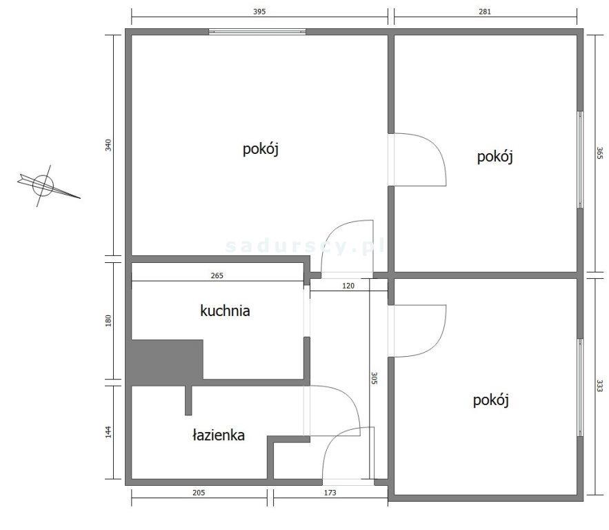 Mieszkanie trzypokojowe na sprzedaż Kraków, Grzegórzki, Dąbie, Widok  46m2 Foto 3