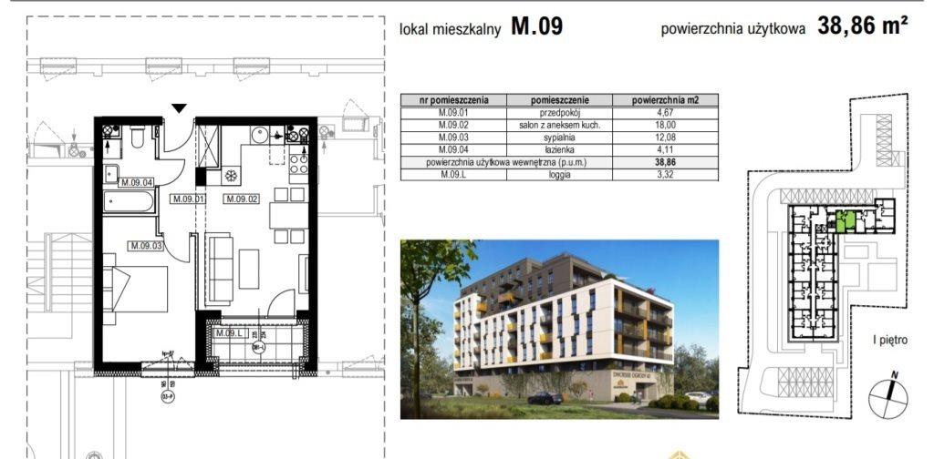 Mieszkanie dwupokojowe na sprzedaż Rzeszów, Krakowska  39m2 Foto 1