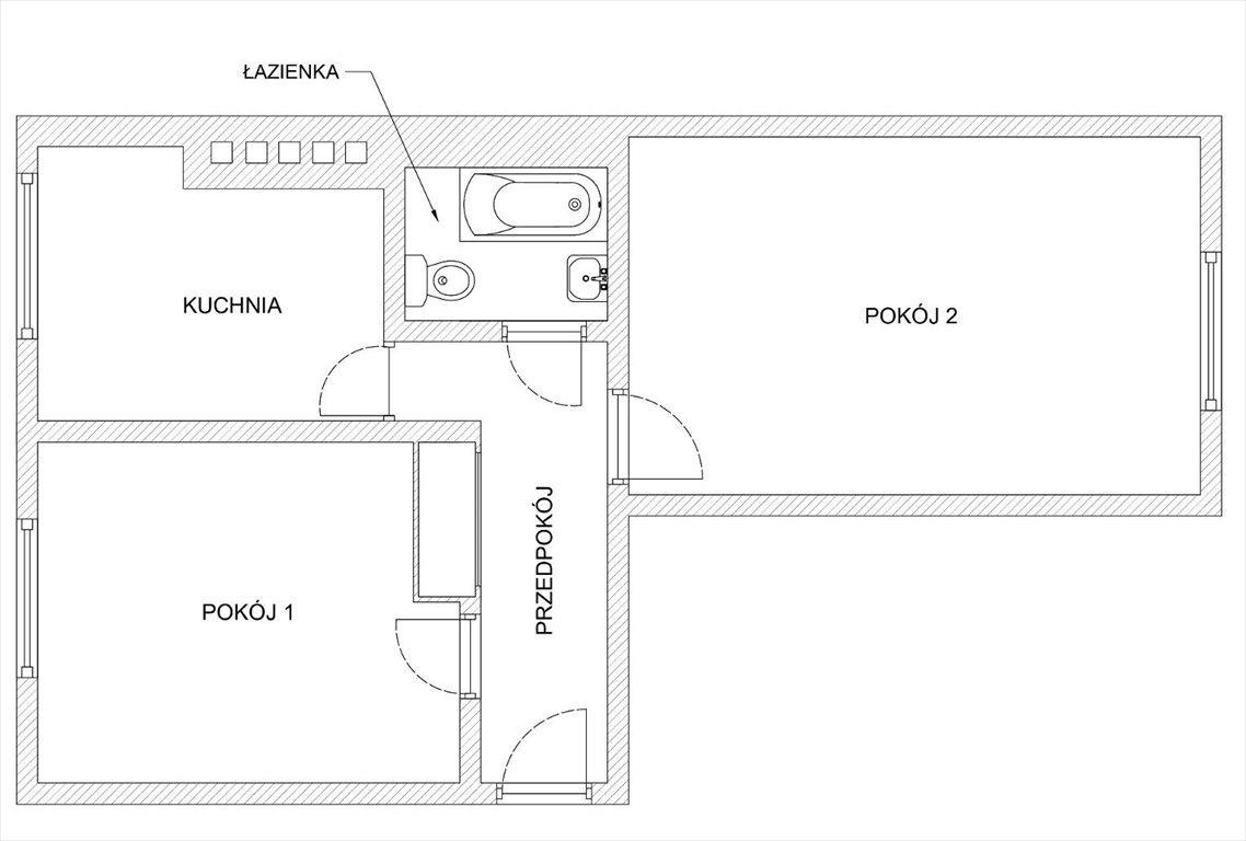 Mieszkanie dwupokojowe na sprzedaż Gliwice, Centrum, Orlickiego 5  45m2 Foto 12