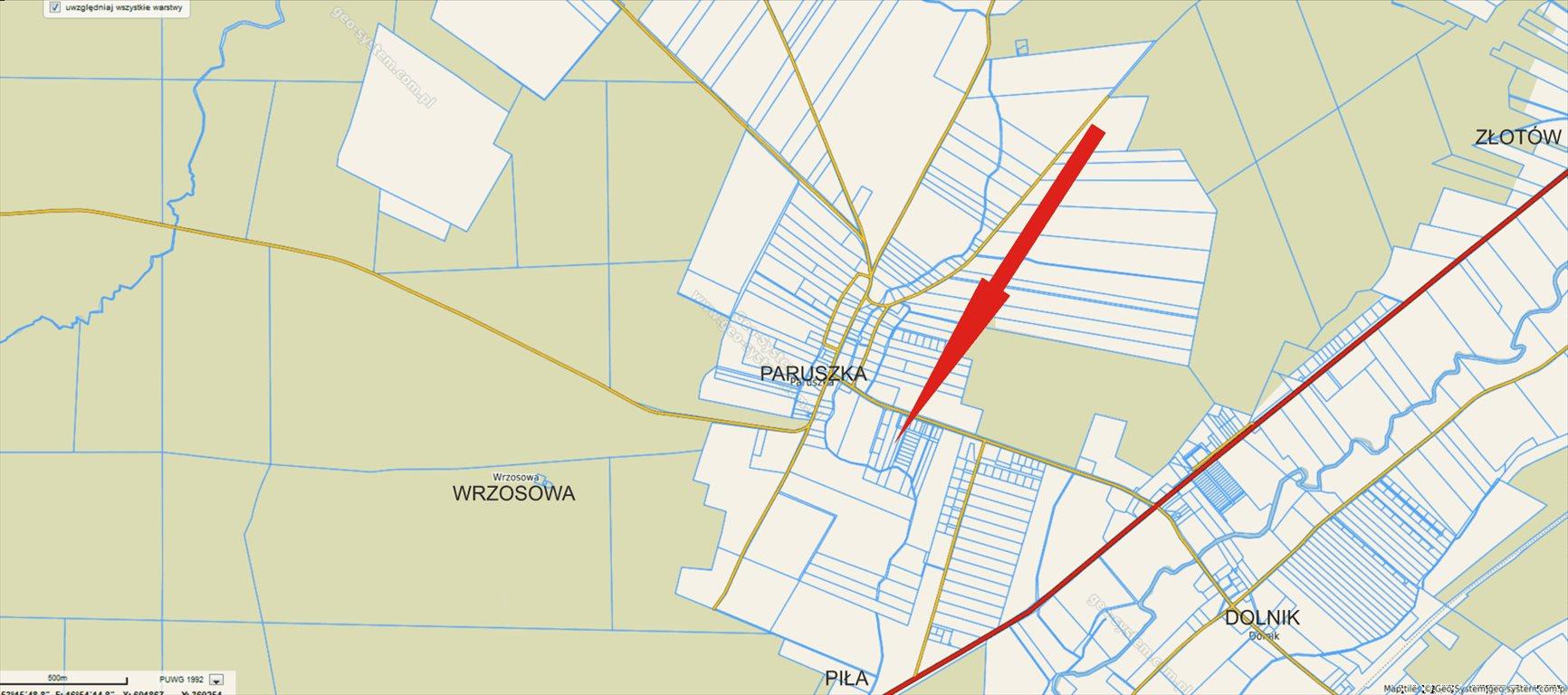 Działka budowlana na sprzedaż Paruszka  3500m2 Foto 3