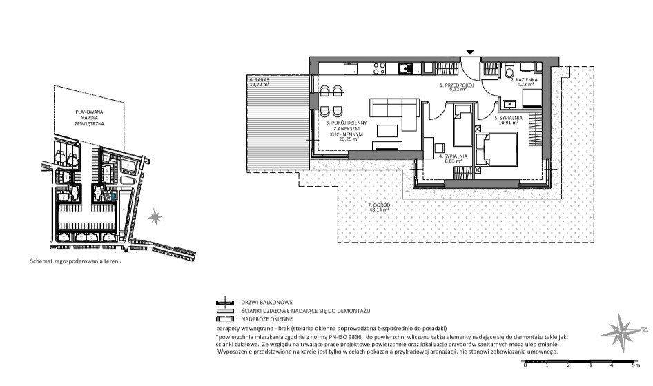 Mieszkanie trzypokojowe na sprzedaż Gdańsk, Sobieszewo, Łąkowa  51m2 Foto 2