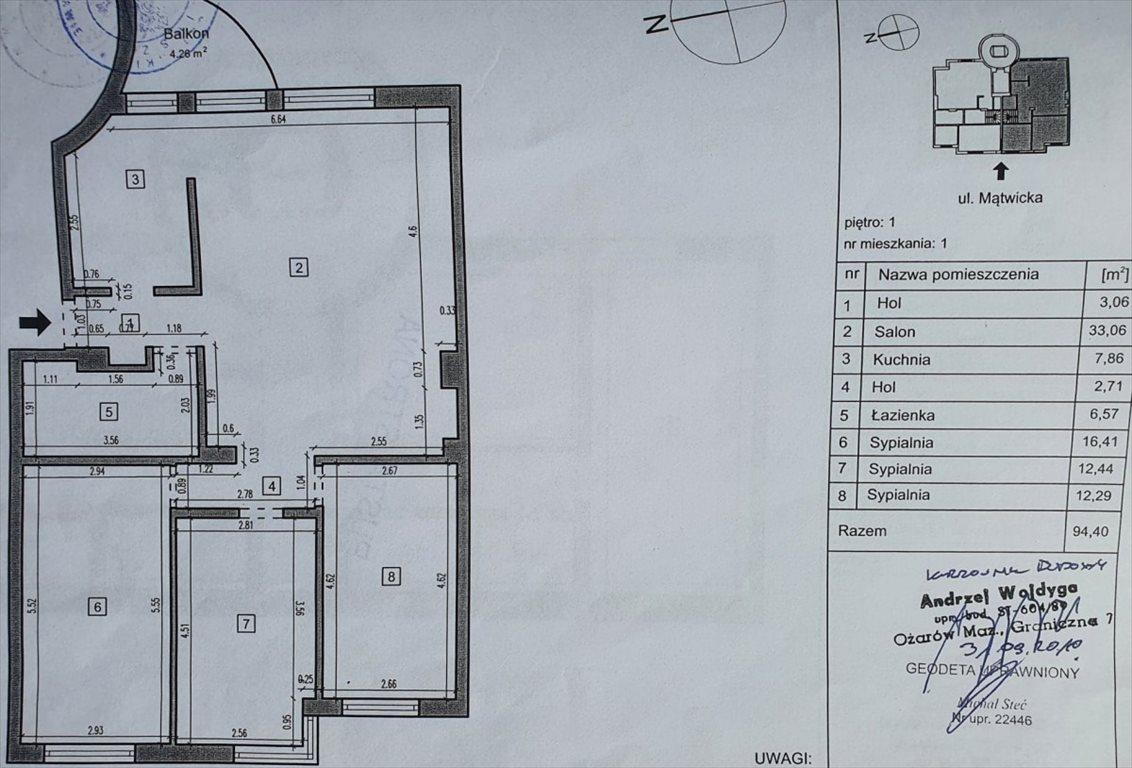 Mieszkanie czteropokojowe  na sprzedaż Warszawa, Ochota Szczęśliwice, Mątwicka  95m2 Foto 6