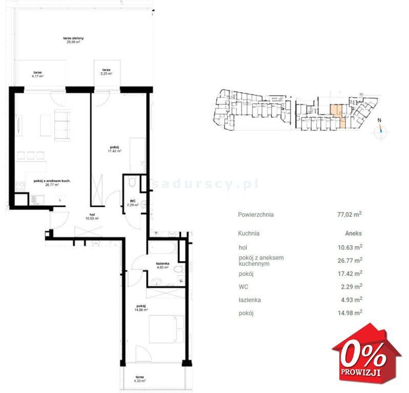 Mieszkanie trzypokojowe na sprzedaż Kraków, Prądnik Czerwony, Olsza, Lublańska - okolice  75m2 Foto 3