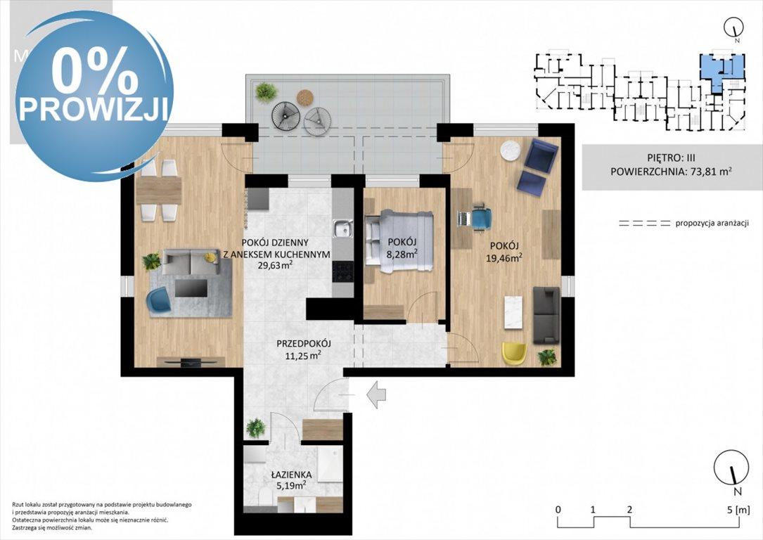 Mieszkanie trzypokojowe na sprzedaż Lublin, Wrotków, Ignacego Domeyki  74m2 Foto 1