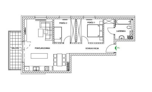 Mieszkanie trzypokojowe na sprzedaż Częstochowa, Parkitka, Grabówka, Mazowiecka  66m2 Foto 7