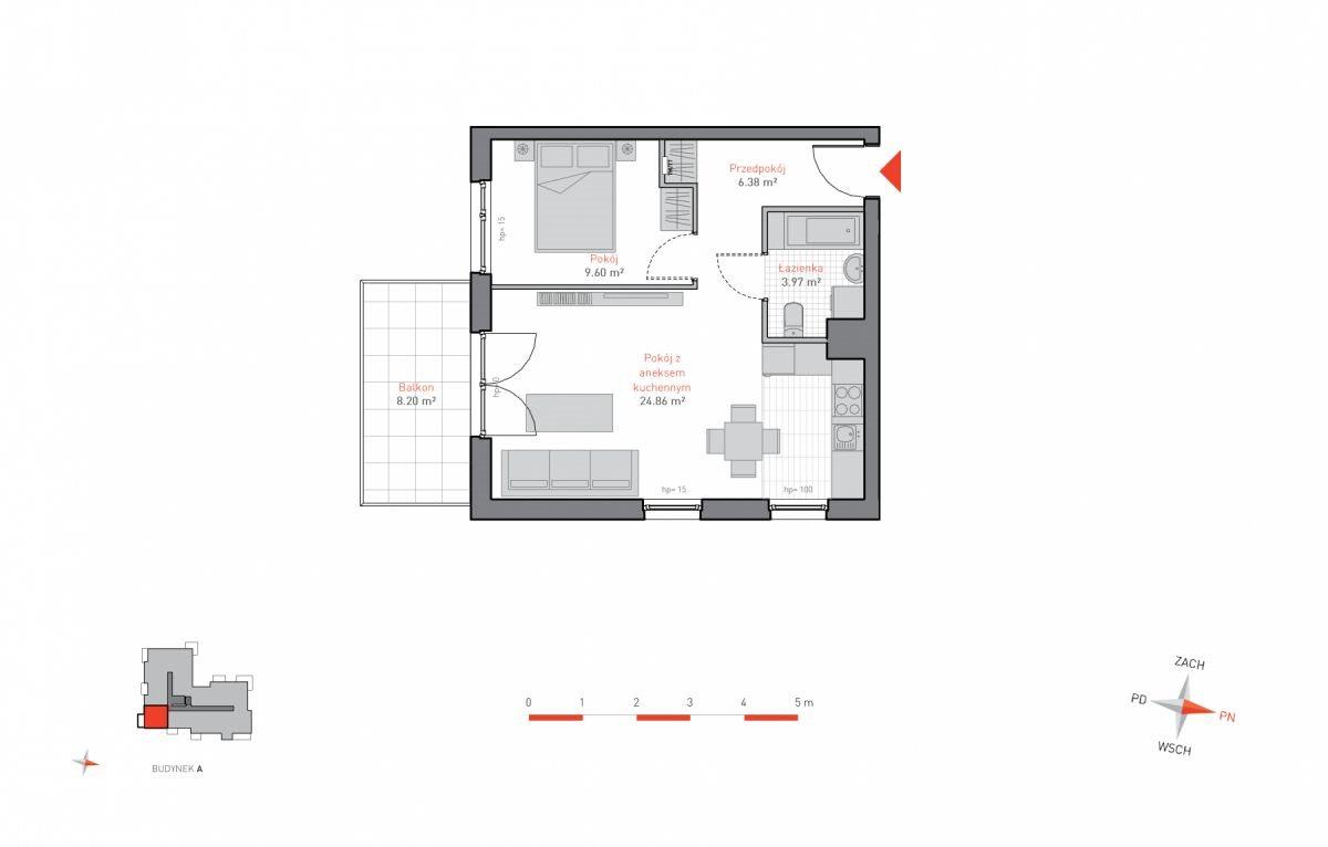 Mieszkanie dwupokojowe na sprzedaż Gdańsk, Siedlce, Jacka Malczewskiego  45m2 Foto 10