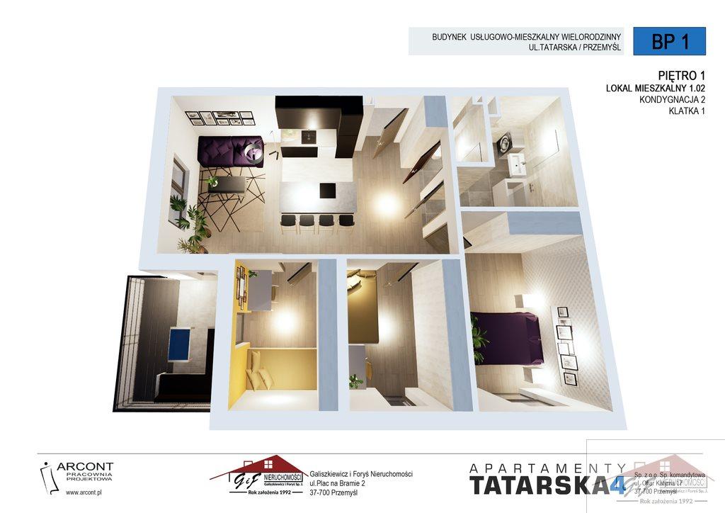 Mieszkanie czteropokojowe  na sprzedaż Przemyśl, Tatarska  73m2 Foto 5