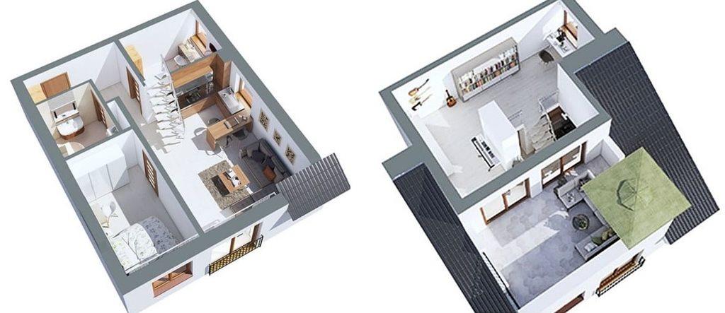 Mieszkanie dwupokojowe na sprzedaż Skarbimierzyce  48m2 Foto 3
