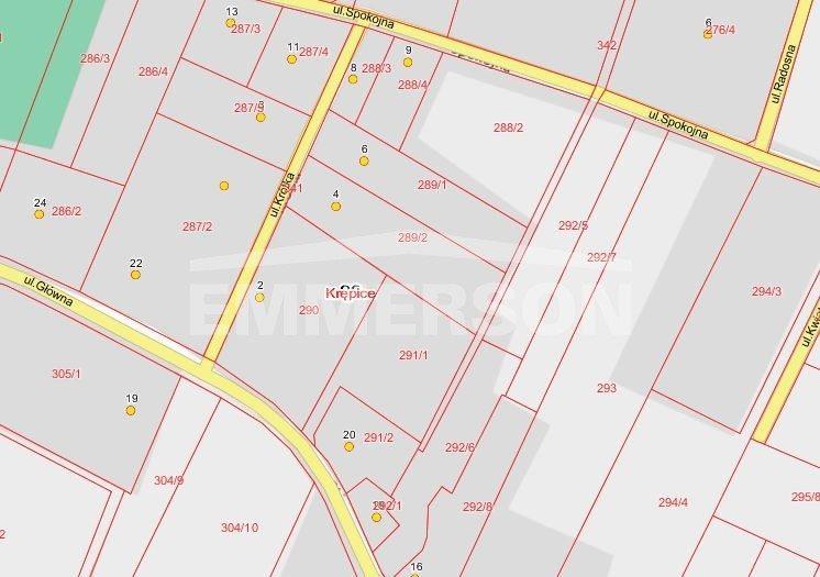 Działka budowlana na sprzedaż Miękinia, Krępice  1057m2 Foto 1