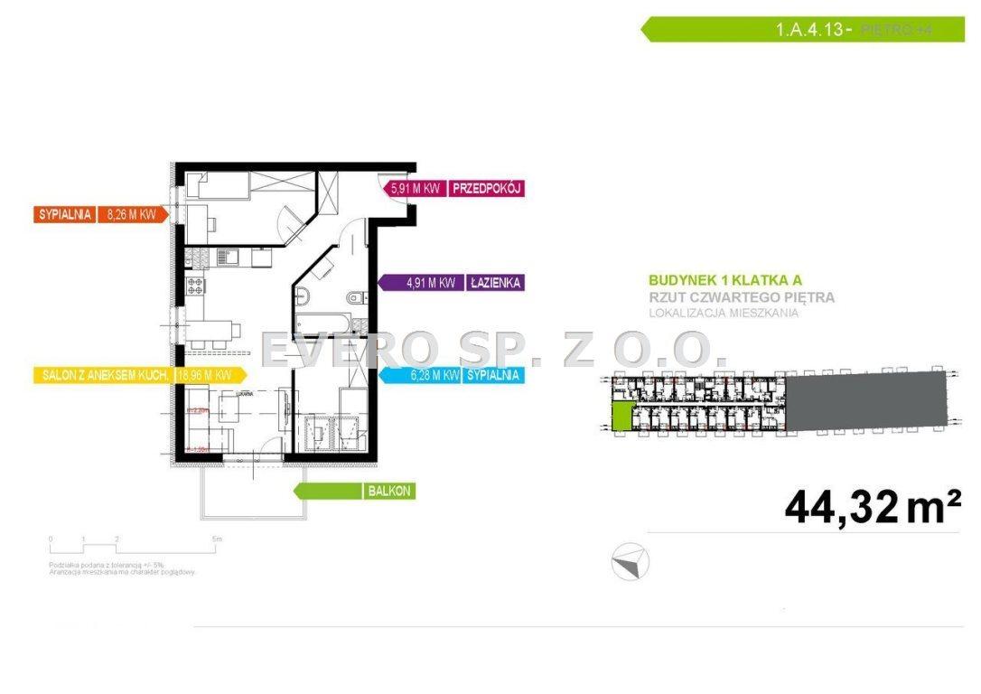 Mieszkanie trzypokojowe na sprzedaż Wrocław, Krzyki, Jagodno, Mieszkania na Krzykach-Jagodno  44m2 Foto 4