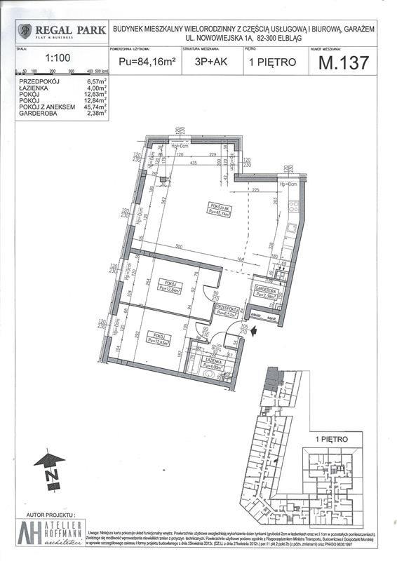 Mieszkanie trzypokojowe na sprzedaż Elbląg, Regal Park, Regal Park, Nowowiejska 1A  84m2 Foto 2