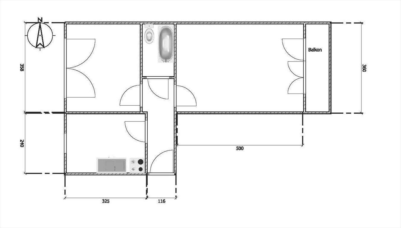 Mieszkanie dwupokojowe na sprzedaż Mielec, Osiedle, Solskiego 12  46m2 Foto 1