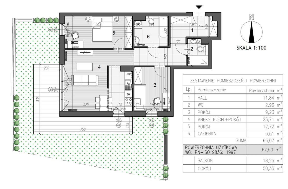 Mieszkanie trzypokojowe na sprzedaż Kielce, Szydłówek  68m2 Foto 4