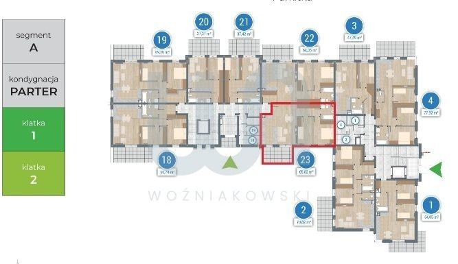 Mieszkanie trzypokojowe na sprzedaż Częstochowa  66m2 Foto 3