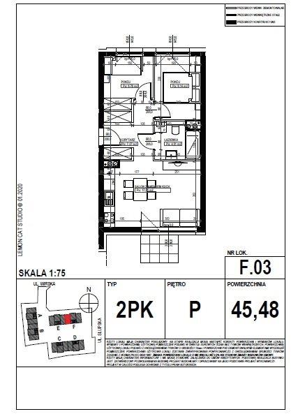 Mieszkanie trzypokojowe na sprzedaż Poznań, Smochowice  45m2 Foto 7